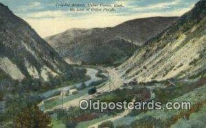 Crovdon Station, Weber Canon, Utah, UT USA Trains, Railroads Unused light wea...
