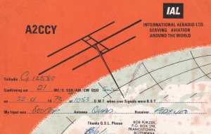 Francistown Botswana Radio Station 1970s Aerial Antenna QSL Card