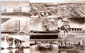 RPPC BRASILIA, Brazil     c1960s    MULTIVIEW of Capitol City    Postcard