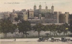 United Kingdom, London, The Tower of London, 1908 used Postcard