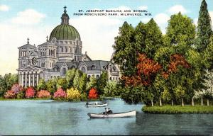 Wisconsin Milwaukee St Josaphat Basilica and School From Kosciuszko Park