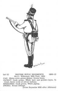 Set 62 British Rifle Regiments No. 5 Rifleman, 95th Foot, 1806 1800-12