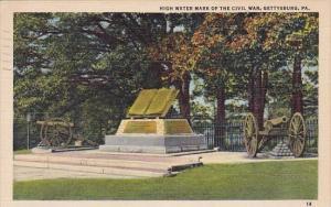 Pennsylvania Gettysburg High Water Mark Of The Civil War 1951