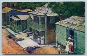 Postcard Puerto Rico Cayey Homes c1912 View Woman's World Magazine Ad X2