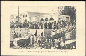 morocco, RABAT, Bou Regreg, Sultan Mohammed V (1910s)