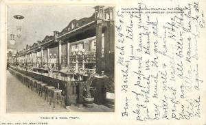 Los Angeles California~Fosgate Mission Soda Fountain~1908 Postcard