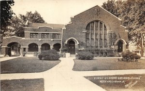G24/ Marshalltown Iowa RPPC Postcard c1920s First Congregational Church