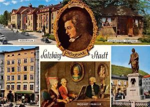 Salzburg Stadt Mozart Familie Zauberfloeten Haueschen Mozartmuseum