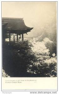 RPPC Cherry Blossoms, Full Bloom in the Precinct of Kiyomizu, Temple Kyoto Japan