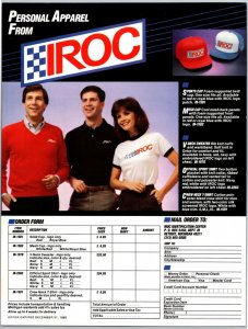 1985 Irock Personal Apparel Hats Shirts Print Ad N1
