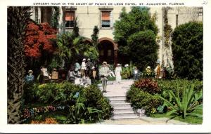 Florida St Augustine Hotel Ponce De Leon Concert Hour In The Court