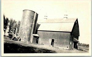1920s RPPC Real Photo Postcard FARM SCENE Car at Barn Ed Teller -Our Chevrolet