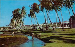 Vintage Postcard Village of Inarajan Guam, Micronesia, Unposted