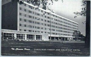Clemson, South Carolina Postcard CLEMSON HOUSE HOTEL Street View c1950s Unused