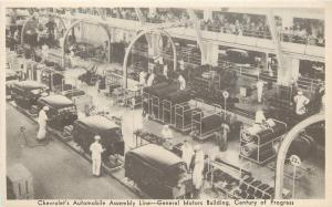 Chicago~1934 World's Fair~Chevrolet Assembly Line Workers~General Motors Bldg
