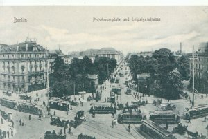 Germany Postcard - Berlin - Potsdamerplatz Und Leipzigerstrasse - Ref TZ7007