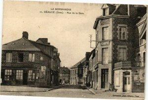 CPA La normandie .- CEAUCE( ORNE) .- Rue de la gare  (195578)