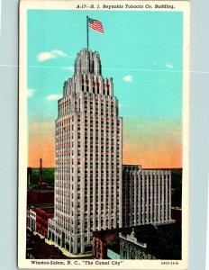 Winston-Salem NC The Camel City Reynolds Tobacco Bldg Postcard unused 1915-30s