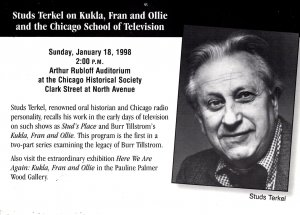 Studs Kerkel on Kukla, Fran and Ollie - Chicago School of Television - 1998