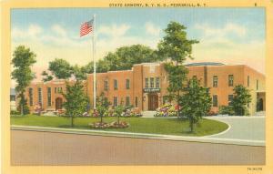 Peekskill New York NY State Armory NYNG Linen Postcard
