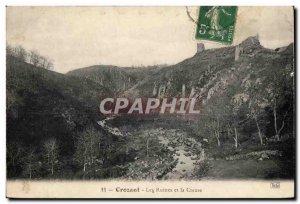 Postcard Ancient Ruins and Crozant Creuse