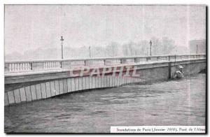 Old Postcard Paris Floods January 1910 Bridge of & # 39Alma