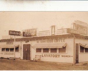 P1804 vintage coca cola Restaurant bar-b-q reproduced postcard