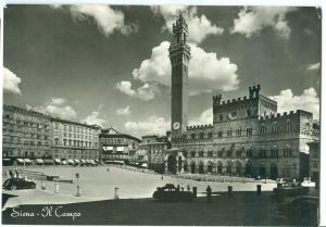 Siena, Il Campo, Principal Square, 1961 used real photo Post