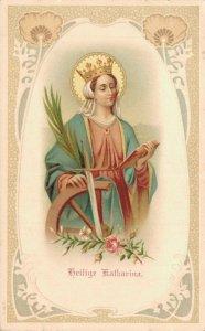 Die Heilige Katharina Postcard Saint Catherine 04.84