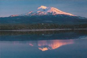 California Mount Shasta Sunset Reflected In Lake Shastina