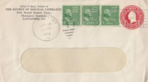 Society Of Biblical Literature Lancaster PA Envelope Stamp Official Cover