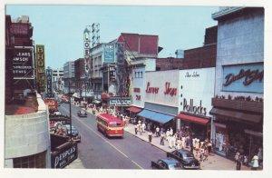P1195 vintage postcard unused busy street scene autos signs etc norfolk virginia