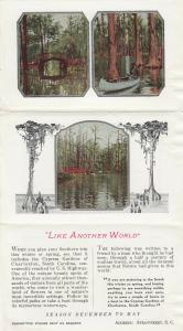 CHARLESTON, South Carolina, 50s; Cypress Gardens, Boating Garden, Folding PC