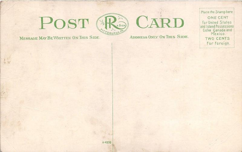 Pittsburgh PA~Union Station~Pennsylvania Railroad~Trolley~People~Harper Rye~1910