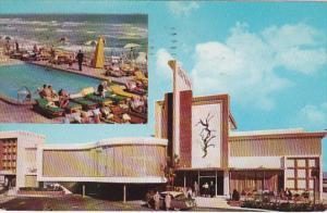 Driltwood Motel Pool Miami Beach Florida 1955