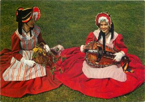 Ethnic Postcard French folklore tradition costume popullaire Vichy