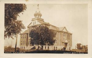 Great Bend Kansas~St Mary's Convent~Antenna in Bknd~Pre 1907 Kruxo Real Photo PC