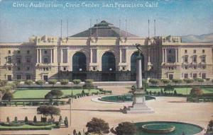 California San Francisco Civic Auditorium Civic Center