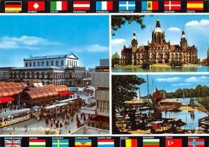 Hannover Cafe Kroepke mit Opernhaus Rathaus Maschsee Lake Town Hall Tram