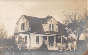 Greenwood Nebraska~Farm Residence of OA Johnson~From Owner~1909 RPPC