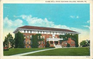 Indiana Pennsylvania~Clark Hall~State Teachers College~Balcony~1937 Postcard
