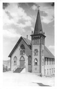 Virginia City Nevada St Pauls Church Frasher Real Photo Antique Postcard K85581