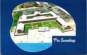 Soundings Seaside Resort Dennisport MA Pools Ocean Beach Cape Cod Vtg Postcard
