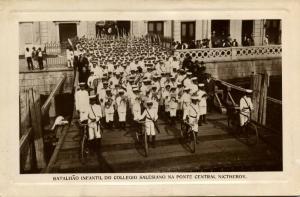 brazil, NICTHEROY, Batalhão Infantil do Collegio Salesiano na Ponte Central 1911