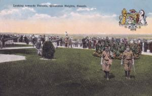 Military Soldiers at Queenston Heights Canada Toronto Postcard
