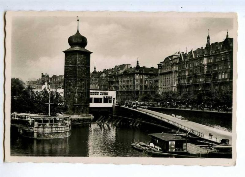 235750 CZECH PRAHA Hotel Manes Vintage photo postcard