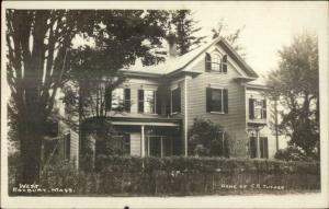West Roxbury MA Home of CE Tucker c1910 Real Photo Postcard
