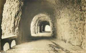 United States real photo postcard Mitchel Tunnel Columbia River Highway Oregon