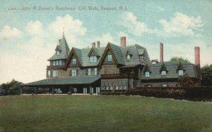 Vintage Postcard 1910's John R. Drexel Residence Cliff Walk Newport Rhode Island