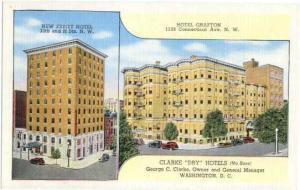 Clarke Dry Hotels (No Bars) New Ebbitt Hotel & Hotel Grafton, Washington, DC